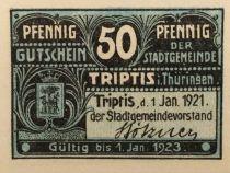 Germany 50 Pfennig, Triptis - notgeld 1921 - UNC
