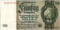 Germany 50 Reichsmark 1933 - Serial A - UNC - P.182
