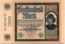 Germany 5000 Mark Spinelli - 1922