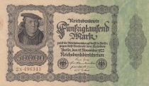 Germany 50000 Mark Burgermaster Brauweiler - 1922 Serial 2N