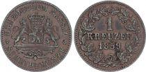 Germany Germany, Duchy of Nassau, Adolf - 1 Kreuzer 1859 - VF+