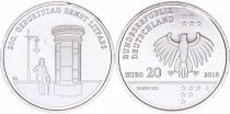 Germany NEW.2016 20 Euro, Germany 20 euros - 200. Geburstag Ernst Litfass - 2016