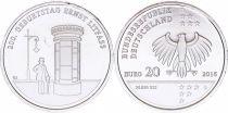 Germany NEW.2016 20 Euro, Germany 20 euros - 200. Geburstag Ernst Litfass - 2016
