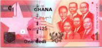Ghana 1 Cédi, K. Nkrumah and 5 leaders - Dam - 2015