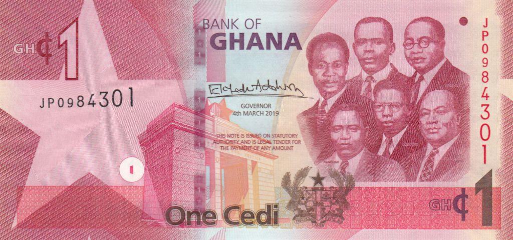 Ghana 1 Cédi, K. Nkrumah et 5 leaders - Barrage - 2019
