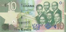 Ghana 10 Cédis  - 2017 - UNC - P.39