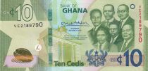 Ghana 10 Cédis  - 2019 - UNC - P.47