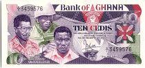 Ghana 10 Cedis - W.Larbi, F.Otoo, E.Nukpor - 1984