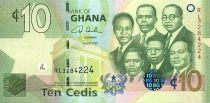 Ghana 10 Cedis K. Nkrumah, 5 leaders - Central Bank