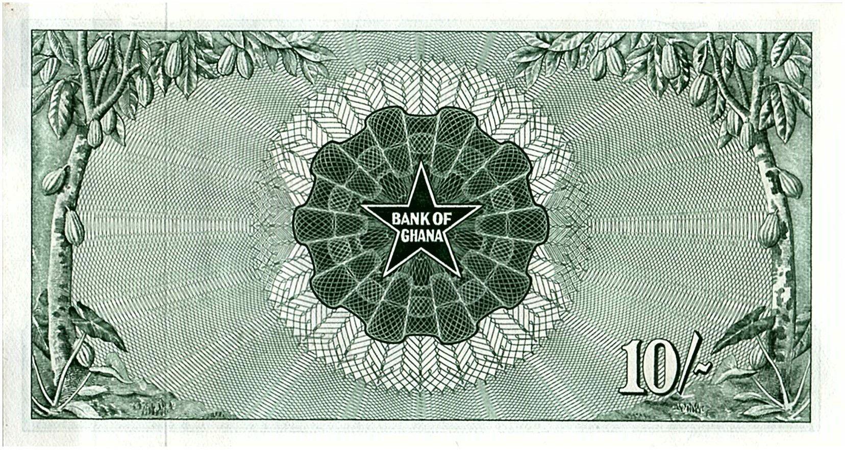 Ghana 10 Schilling - Banque du Ghana - 1963