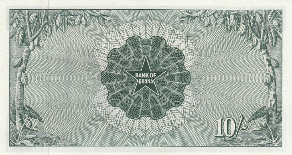 Ghana 10 Shillings Banque Centrale - 1963