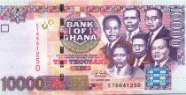Ghana 10000 Cedis - Kwame Nkrumah and five other leaders - 2006