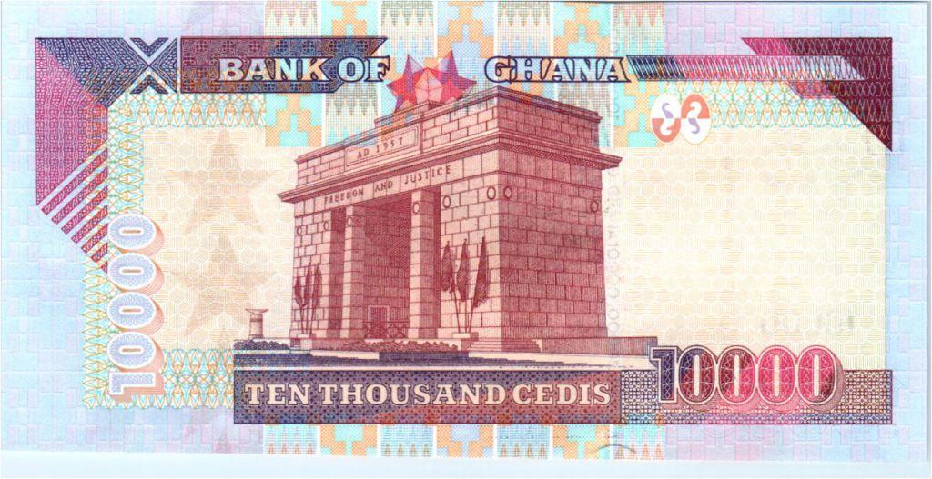 2006 P -35c Ghana 10,000 10000 Cedis UNC banknote