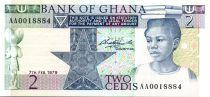 Ghana 2 Cedis - Shcool girl - Culture - 1979