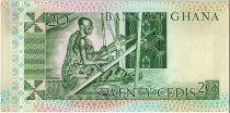 Ghana 20 Cedis - Mineur et Tisserand - 1982