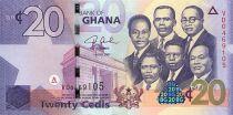 Ghana 20 Cedis K. Nkrumah et 5 leaders - Immeuble - 2007