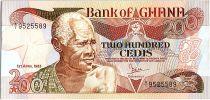 Ghana 200 Cedis - Vieil Homme et collègiens - 1983
