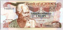Ghana 200 Cedis - Vieil Homme et collègiens - 1989