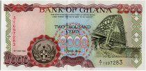 Ghana 2000 Cedis - Bridge and Fishermans - 1994