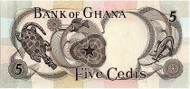 Ghana 5 Cedis - Art Africain - 1969