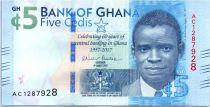 Ghana 5 Cedis, 60 années de la banque centrale de Ghana - 2017