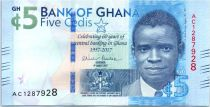 Ghana 5 Cedis, Celebrating 60 years of central banking in Ghana - 2017