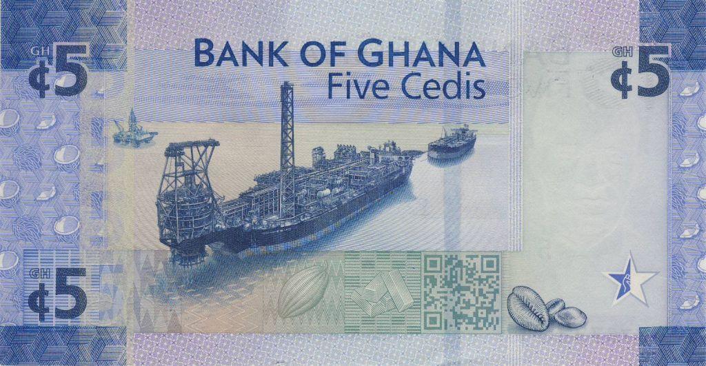 Ghana 5 Cedis, Enfant - Cargo - 2017 (2018)