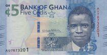 Ghana 5 Cedis, Young boy - Cargo - 2017 (2018)