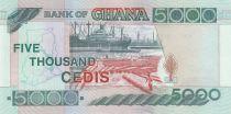 Ghana 5000 Cedis - Port et flottage de bois - 2002 - Neuf - P.34h