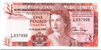 Gibraltar 1 Pound Elisabeth II - Maison -1988