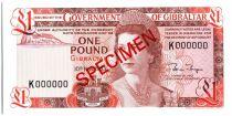 Gibraltar 1 Pound Elisabeth II - Maison