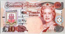 Gibraltar 10 Pounds Elisabeth II - General Eliott - 1995 Série AA
