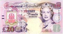 Gibraltar 20 Pounds Elisabeth II - General Nelson - 1995 Série AA