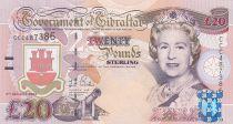 Gibraltar 20 Pounds Elisabeth II - Prise de Gibraltar 1704 - 2004 Série CCC - Neuf - P.31a