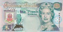 Gibraltar 5 Pounds, Elizabeth II - 2000 - Millenium issue - UNC - P.29