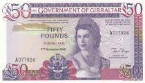 Gibraltar 50 Pounds Elisabeth II - Vue du Rocher - 1986 - Neuf - P.24