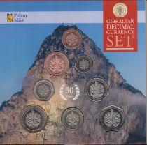 Gibraltar Coffret BU 2017 - 8 Monnaies Référundum 1967-2017