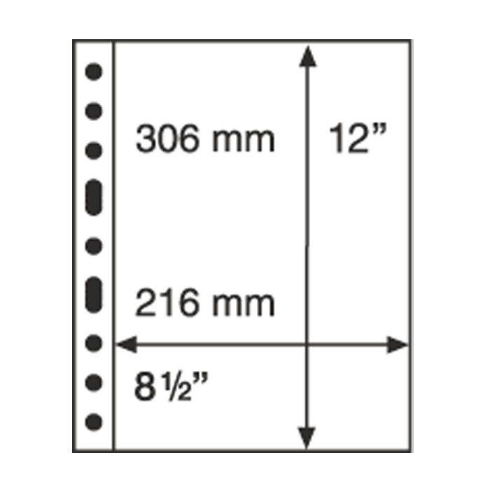 Grande Plastic Pockets, one-way division, black - 1S