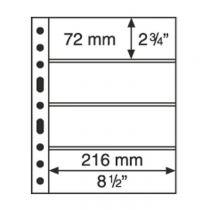 Grande Plastic Pockets, one-way division, black - 4S
