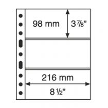 Grande Plastic Pockets, one-way division, clear