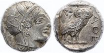 Grèce (Athènes) Tétradrachme, Athena, Chouette (-450-430) - 2 em ex
