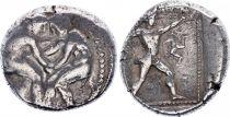 Grèce (Pamphylie) 1 Statère, Aspendos - Lutteurs (420-370)