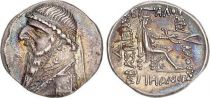 Grèce (Royaume Parthe) 1 Drachme, Mithridates II - Roi assis tenant un arc