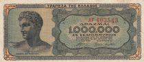Grèce 1 000 000 Drachmes 1944 - Buste jeune homme, Temple de Poséïdon