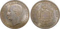 Grèce 1 Drachm George I - Armoiries 1868 A - PCGS AU 58