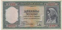 Grèce 1000 Drachmai 1939 - Jeune fille, Paysage, Ruines