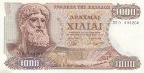 Grèce 1000 Drachmes 1970 - Zeus
