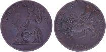Grèce 2 Lepta Britannia - Lion de Venise - 1820 - KM.31
