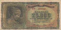 Grèce 25000 Drachms Deidiama ( Nymphe) - Temple - 1943 - TB