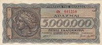 Grèce 5 000 000 Drachmes 1944 - Athena